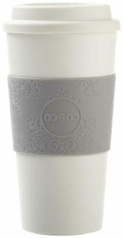 Copco Acadia Travel Mug, 16-Ounce, Damask Gray