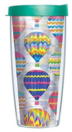 Hot Air Balloons Clear 22 Oz Traveler Tumbler Mug with Lid