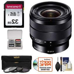 Sony Alpha E-Mount 10-18mm f/4.0 OSS Wide-angle Zoom Lens wi