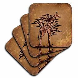 3dRose Andrea Haase Animals Illustration - Giraffe And Afric
