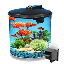 Koller Products AquaView 2-Gallon 360 Fish Tank with Power F