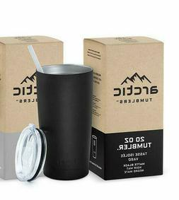 Arctic Tumbler Stainless Steel Travel Mug 20 oz With Lid & S