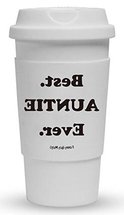 Funny Guy Mugs Best Auntie Ever Travel Tumbler With Removabl