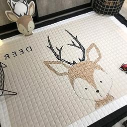 IHEARTYOU Baby Crawling Mat Cute Deer Play Carpet Children B