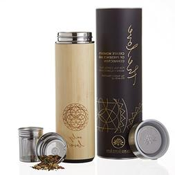 The Love Bamboo Tea Tumbler 18 oz for Loose Leaf Tea, Coffee