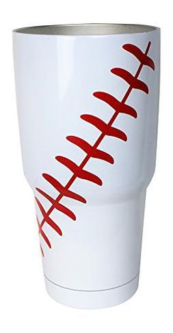Baseball Tumbler Cup 30oz Gift for Mom Men Sports Coach Trav