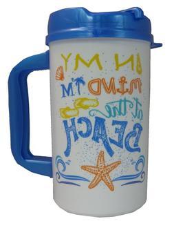 BEACH MUG 32 oz Insulated Travel Mug with Lid
