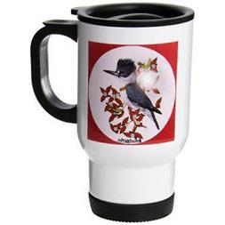 3dRose Belted Kingfisher Travel Mug, 14-Ounce