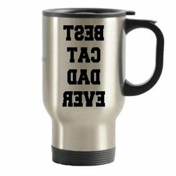 Best Cat Dad Ever Gifts Stainless Steel Travel Insulated Tum