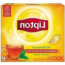 Lipton Black Tea Bags 100% Natural Tea 100 ct