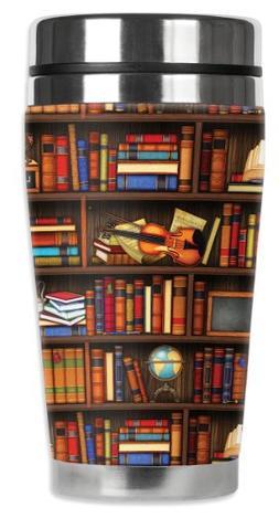Mugzie Books Travel Mug with Insulated Wetsuit Cover, 16 oz,