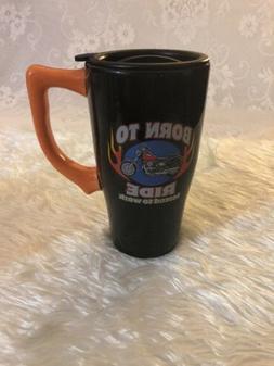Spoontiques Born to Ride Travel Mug, Black