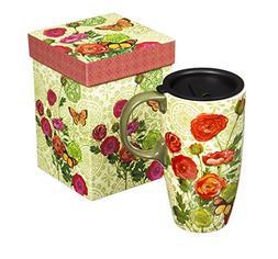 botanical ceramic latte mug