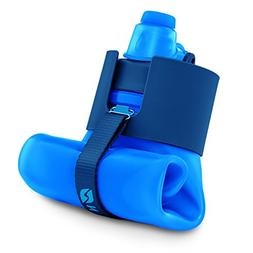 Nomader BPA Free Collapsible Sports Water Bottle - Foldable
