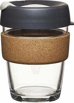 KeepCup Brew Glass Reusable Coffee Cup, 12 Oz/Medium, Press