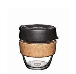 KeepCup 8oz Reusable Coffee Cup. Toughened Glass Cup & Natur