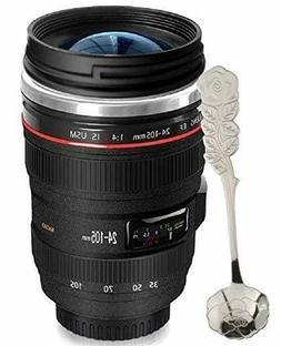 Camera Lens Coffee Mug Simple Modern's Leakproof Tumbler Cup