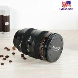 Camera Lens Cup 24-105 Coffee Travel Mug Thermos Leak-Proof