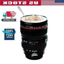 Camera Lens Shape Personality Travel Mug Cup Coffee Tea Milk