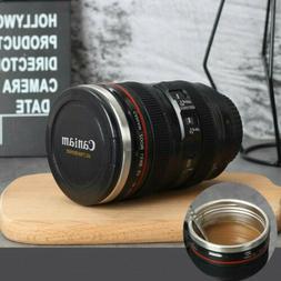 Caniam Camera Lens Coffee Mug Tea Cup Travel DSLR Stainless