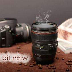 Caniam Camera Lens Thermos Mug Cup EF 24-105mm Travel Tea Co