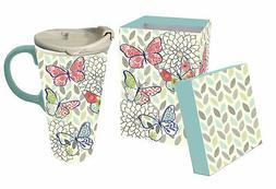 Latitude Run Canton Butterfly Ceramic 17 oz. Perfect Cup