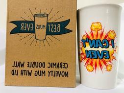 Ceramic Coffee Travel Mug 12 oz. With Sealed BPA-Free Lid -
