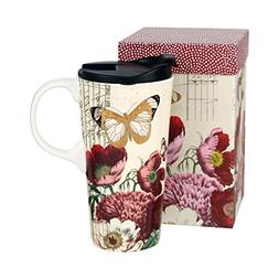 Ceramic Travel Cup 17 OZ.with Gift Box