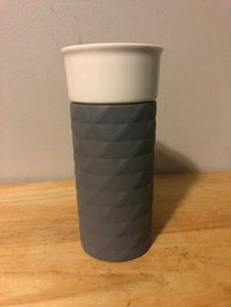 Ello Ceramic Travel Mug W/ Grey Grip Cover