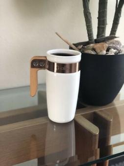 Ello Ceramic Travel Mug With Wooden Handle Coffee Mug Tea Cu