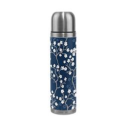 ALAZA Cherry Blossoms Thermos Water Bottle Stainless Steel D