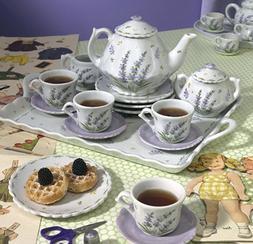 Childrens Tea Party Set for 4, Lavender Design