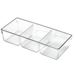 InterDesign Clarity Cosmetic Organizer Tray With 3 Sections