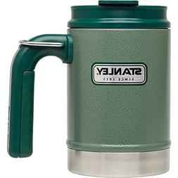 Stanley Classic Vacuum Camp Mug 16oz Hammertone Green,16-Oun