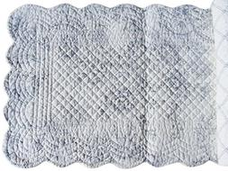 """CLEMENTINA CEMENT Quilted Reversible 51"""" Table Runner by C&F"""
