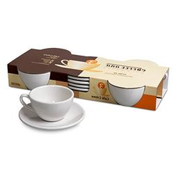 Konitz Coffee Bar Cafe Crème Cups/Saucers, Set of 4