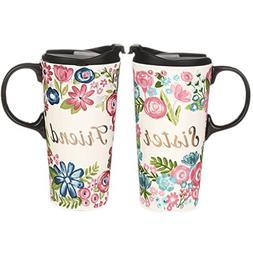 CEDAR HOME Travel Coffee Ceramic Mug Porcelain Latte Tea Cup