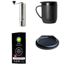 Travel Coffee Maker Bundle with French Press Coffee Mug with
