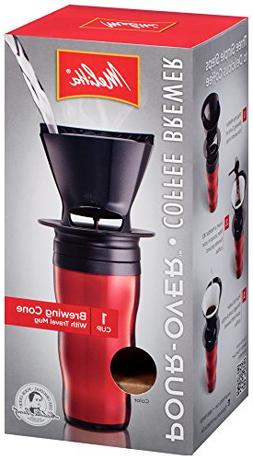 Melitta Coffee Maker Single Cup Pour-Over Brewer with Travel