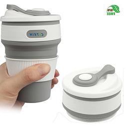 Coffee Travel Mug -CLTEIN Collapsible Certified BPA FREE Foo