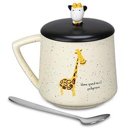 Coffee Mug - Cute 3D Giraffe Mugs Funny Mugs 13.6Oz Porcelai