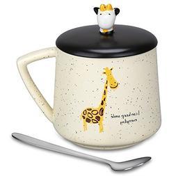 Coffee Mug - Cute 3D Giraffe Mugs Funny Mugs 13.6Oz Porcelai