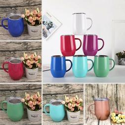 Coffee Mug Double Wall Stainless Steel Cup Travel Tea Insula