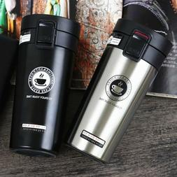 Thermos coffee mug double wall stainless steel vacuum flask