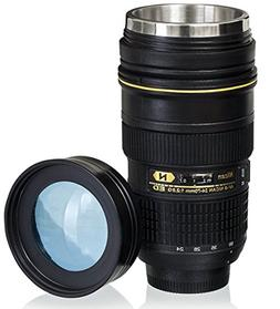 Coffee Mugs,Camera Lens Coffee Mug/Cup With Lid,Photo Coffee