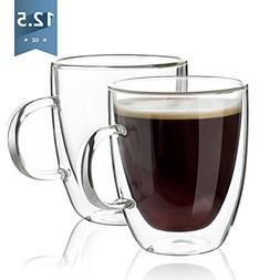 Sweese 4602 Coffee Mugs - Double Wall Insulated Glasses with