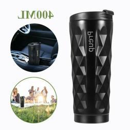 Coffee Travel Mug Stainless Steel Cup 400ML 2-Layer Coffee I