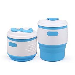 Meao Collapsible Silicone Cup with BPA Free & Leak-proof Lid
