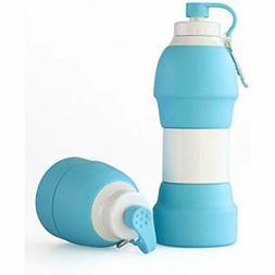 Collapsible Water Sports Bottles Bottle - BPA Free 20 OZ Tra