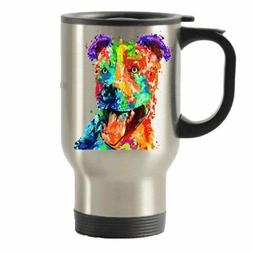 Colorful Pit Bull Stainless Steel Travel Insulated Tumblers